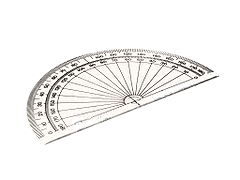 Traditional protractor